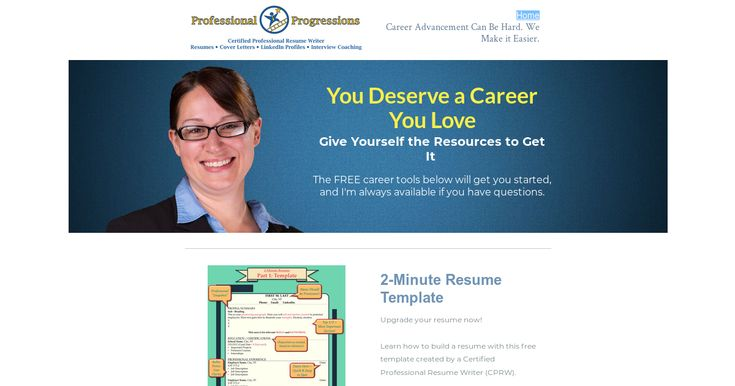 Free resume template, cover letter template, job search ebook, resume ebook, LinkedIn ebook, and Interview coaching ebook.