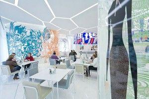 Restaurant ANAN by Hosoya Schaefer Architects in Wolfsburg Autostadt, Germany