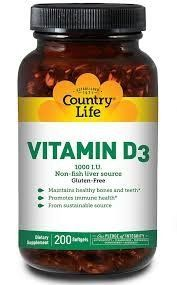 Country Life Vitamin D3 1000 IU, 200 Count (Pack of 2) -- Visit the image link more details.