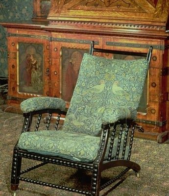 William Morris chair -- the world's first adjustable lounge chair -- adapted by Morris from a chair owned by Ephraim Colman.