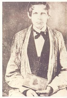 Samuel Austin Worcester (19 January 1798 – 20 April 1859), was a missionary to the Cherokee, translator of the Bible, printer and defender of the Cherokee's sovereignty. He collaborated with Elias Boudinot to establish the Cherokee Phoenix, the first Native American newspaper. After he was arrested for disobeying Georgia's law restricting white missionaries from living in Cherokee territory, he was the plaintiff in Worcester v. Georgia.