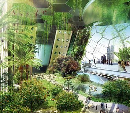Projet dragonfly de vincent callebaut ferme verticale for Architecture futuriste ecologique