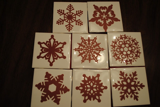 Keeping up with the Joneses: Snowflake Coasters (Cricut Project No. 2)