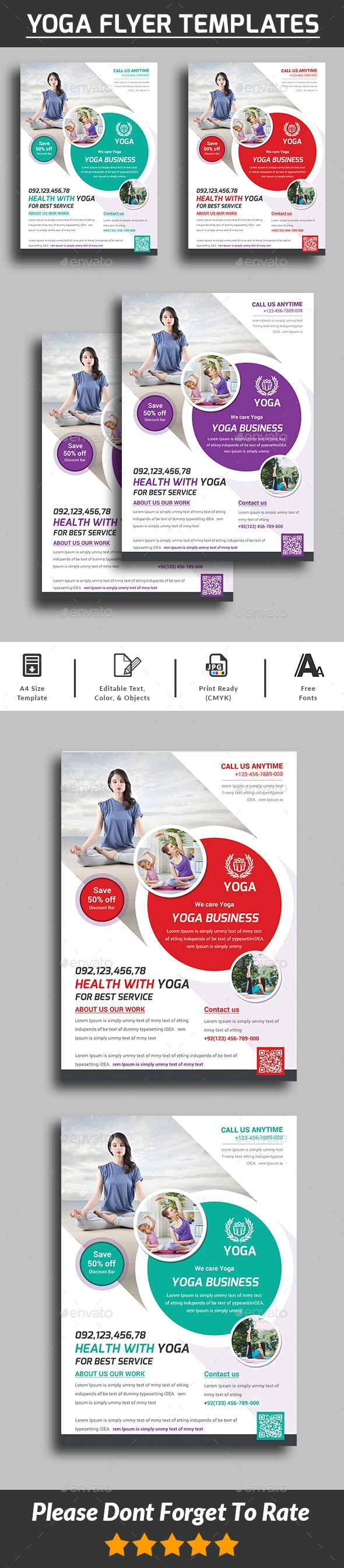 Yoga Flyer  is a professional, clean, & creative Yoga Flyer template designed to make a good impression.  ................................................  Features :  - Editable in adobe photoshop  - Professional design  - Uses free fonts  - All objects, colo