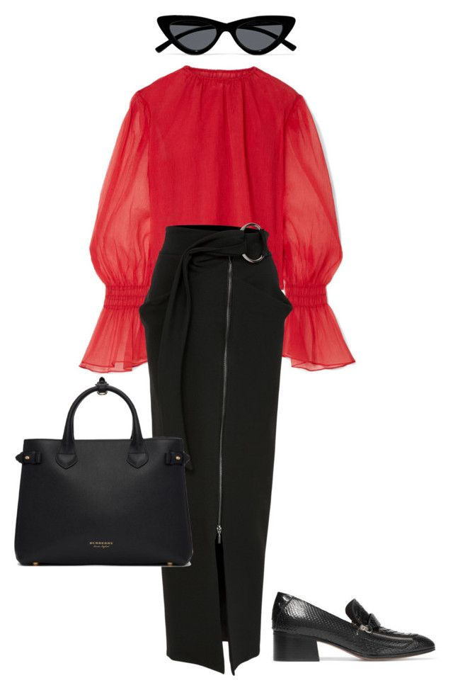 """""""Untitled #777"""" by szudi on Polyvore featuring Beaufille, Le Specs and Burberry"""