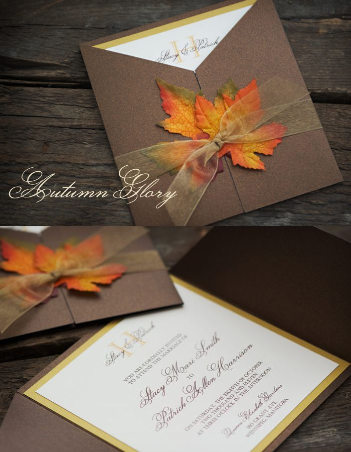 Fall wedding Invitation By: Enchanted Moments - Invitations & Cards