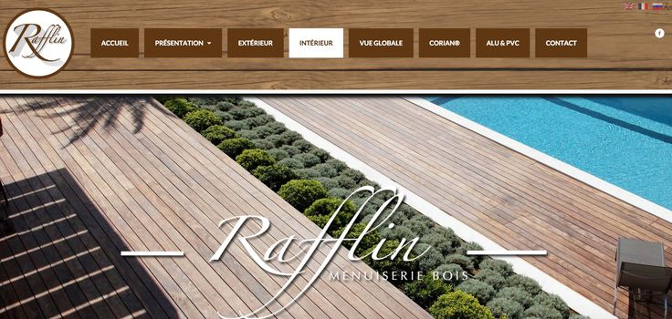 La page d'accueil de notre site Web, traduit en français et en anglais / The home page of our website, also available in English #Menuiserie #Carpentry #SaintTropez #Rafflin http://menuiserie-rafflin.com/