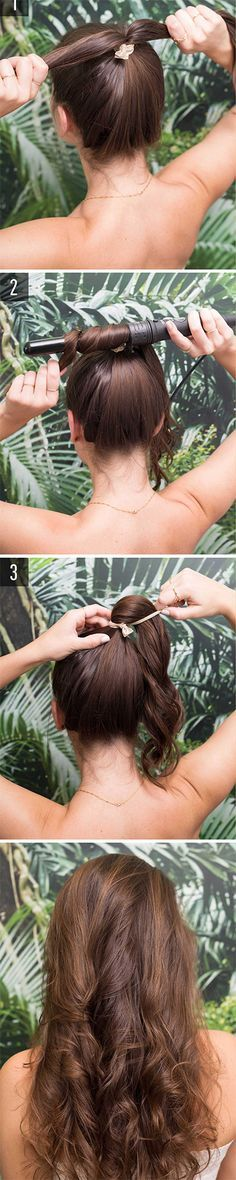 quick and easy hair hacks for lazy girl who don't want to spend more than 5 minutes on their 'do