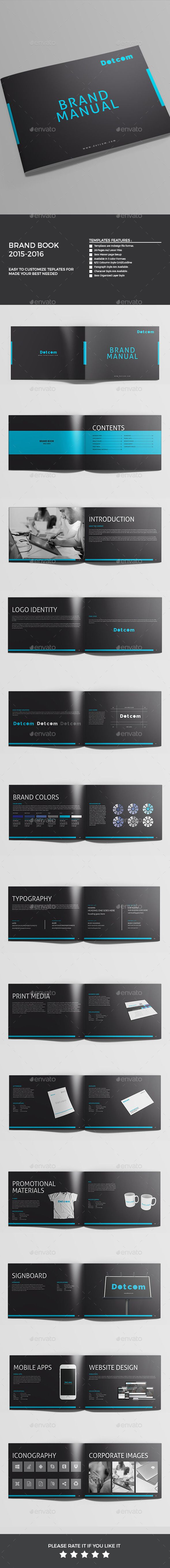 Brand Manual Template #design #printdesign Download: http://graphicriver.net/item/brand-manual/12113523?ref=ksioks