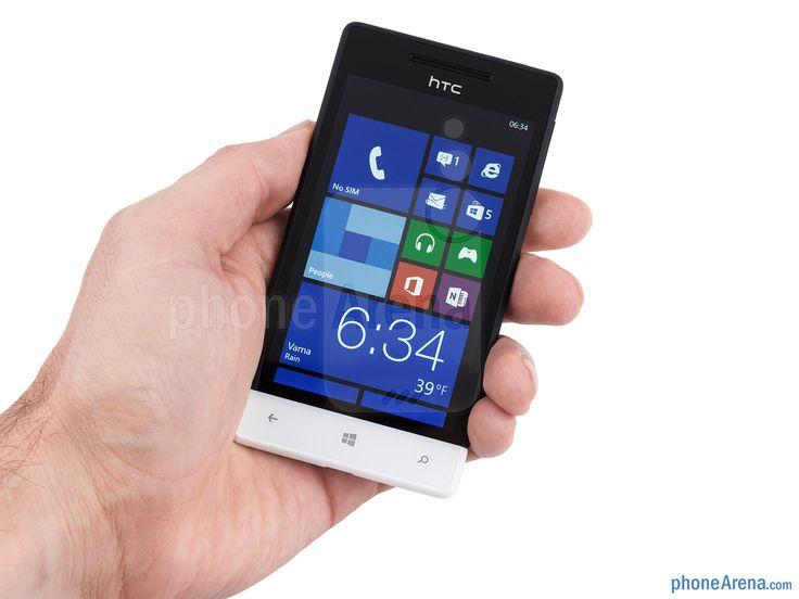 HTC Windows Phone with hand.
