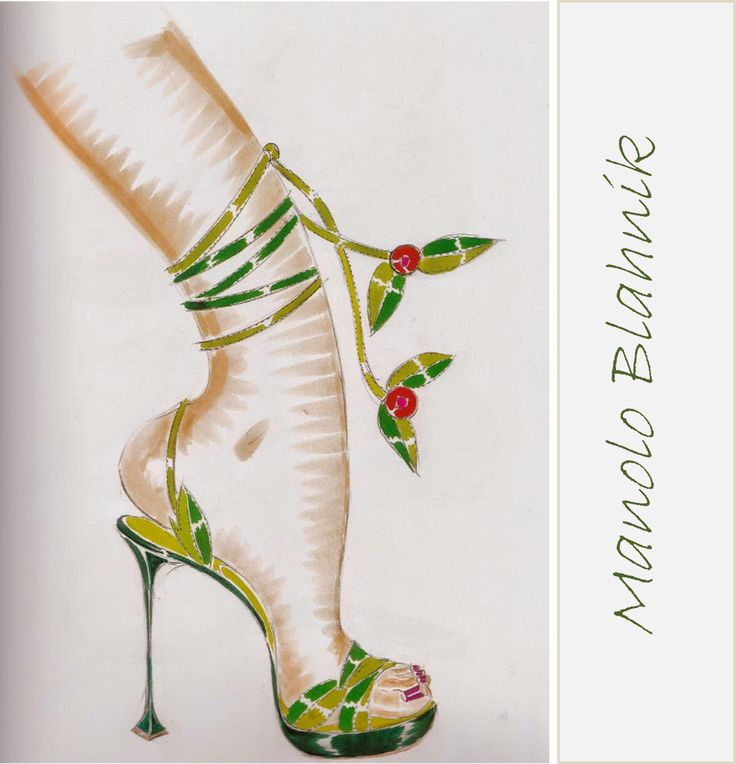 Imprimibles de zapatos Manolo Blahnik  #DIARIODECO5