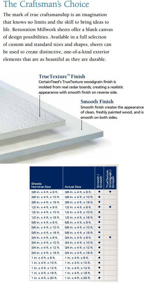 20 best CertainTeed® Restoration Millwork® Trim Boards \ Finishing - roofing estimate