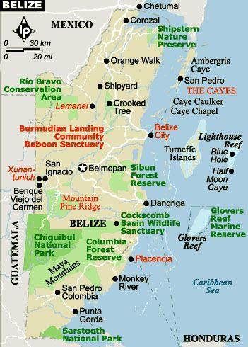 Belize Map did a zipline in unbelizable....fun fun fun