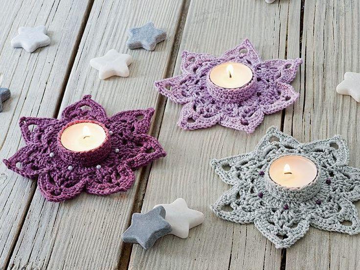 DIY-Anleitung: Teelicht-Blüten häkeln via DaWanda.com