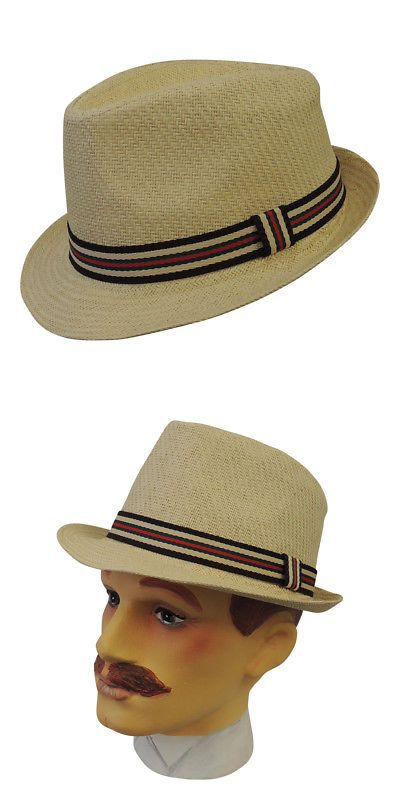 32860eae20ccc Mens Hats 163619  Classic Mens Vintage Style 1920 S 1930 S 1940 S Summer  Trilby Hat -  BUY IT NOW ONLY   18.99 on  eBay  classic  vintage  style   summer   ...