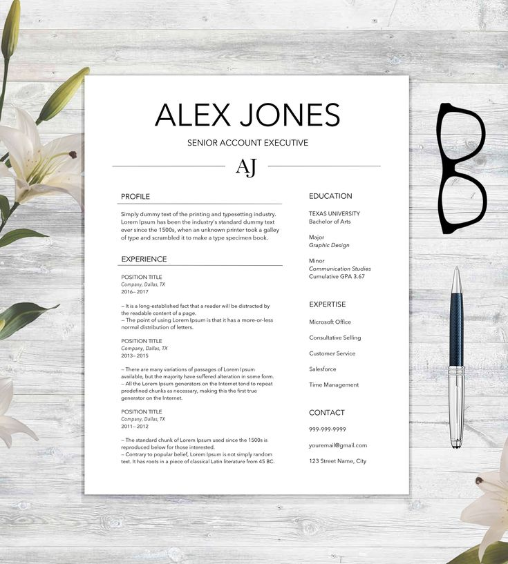 """Excited to share   The """"Alex Jones""""   Resume Template and Cover Letter for Word   Instant Download"""