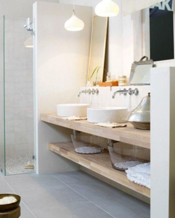 Verwonderlijk Badkamer Wastafel Plank Modern 25 Beste Ideen Over Houten Wastafel VE-53