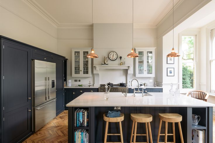 A wonderfully big larder cupboard houses the American fridge/freezer and a spacious pantry