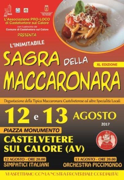 CASTELVETERE SUL CALORE (AV), RITORNA LA SAGRA DELLA MACCARONARA | MezzoStampa - l'informazione di Scafati e dintorni
