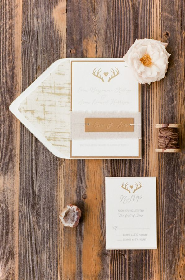 how to make wedding invitation card in microsoft word007%0A Lovely homemade antler paper suite  http   www stylemepretty com