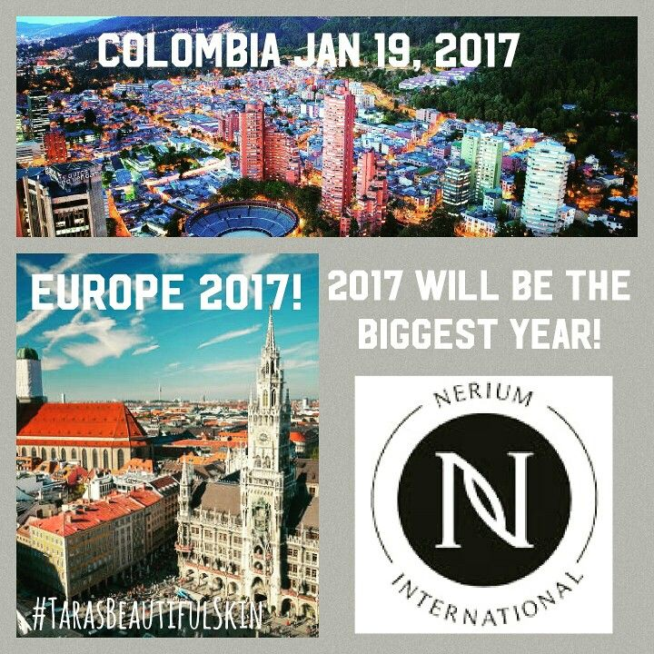 Nerium global expansion! With great success in the US, Canada, Japan, Mexico, Korea, and Australia.... Nerium is headed to Colombia, Hong Kong and Europe!!!