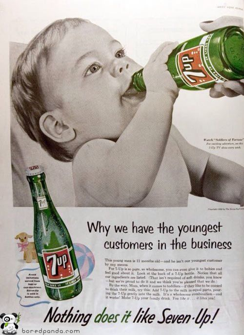 Vintage Poster - Baby & 7up