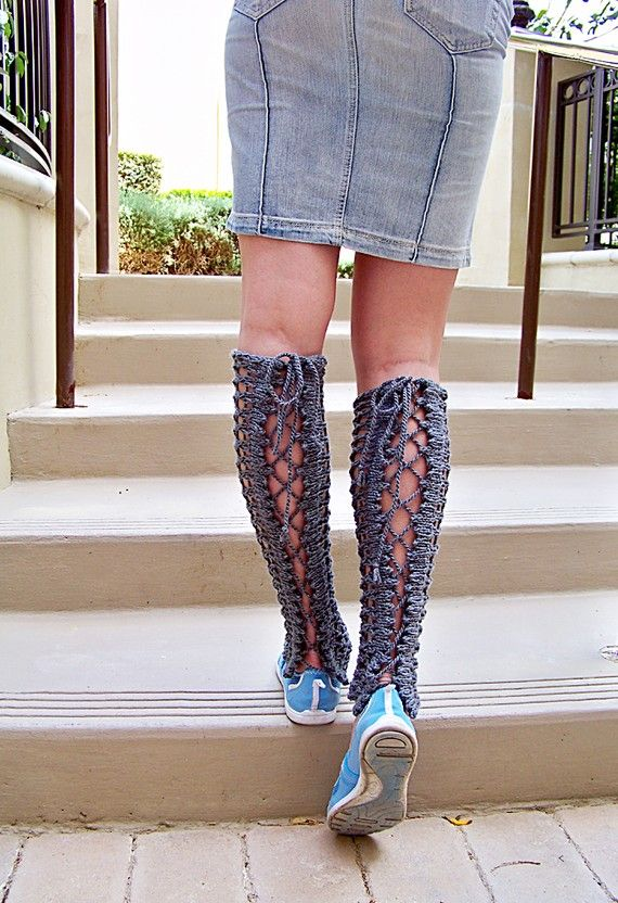 83 Best Knit Boot Tops Leg Warmers Images On Pinterest Knitting