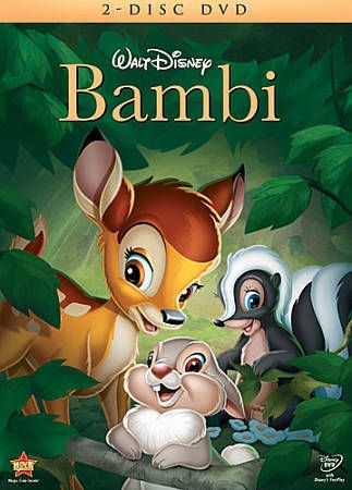 Bambi (DVD, 2011, 2-Disc Set) Slip Cover-Sealed Free Shipping