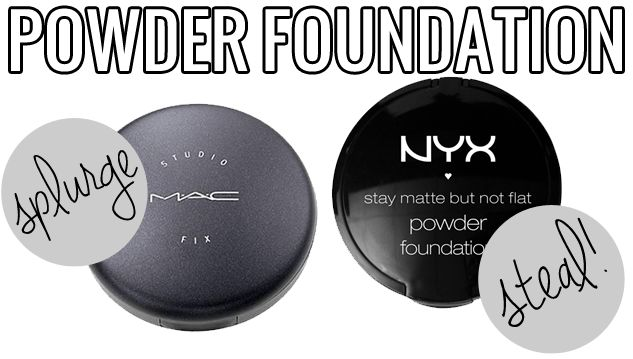 makeup dupes, Splurge / Steal Beauty Powder Foundation, MAC Studio Fix v.s NYX Stay Matte but Not Flat