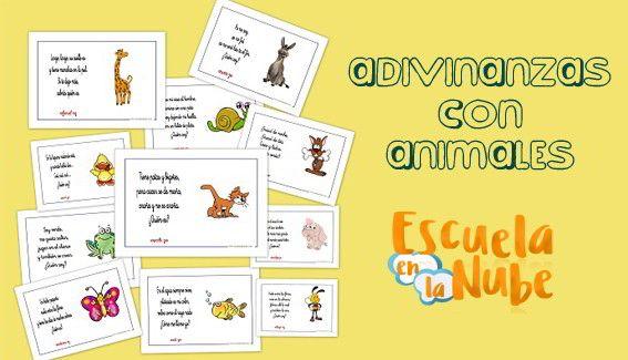 Fichas de adivinanzas con animales, divertidas y practicas para trabajar en el aula o disfrutar en casa retando a los papás y mamás. Adivinanzas infantiles