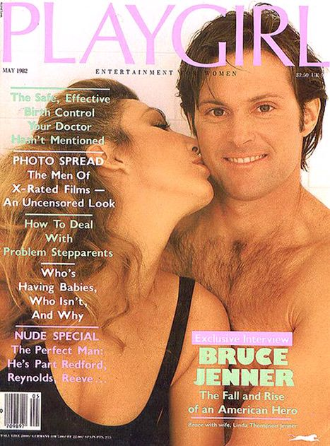Throwback Thursday time! Everybody remembers Bruce Jenner's iconic Sports Illustrated cover from 1976, but how many people had this gem in their collection? The former Olympian, now 65, posed shirtless for Playgirl in May 1982, gracing the cover with then-wife Linda Thompson, to whom he was married from 1981 to 1986.
