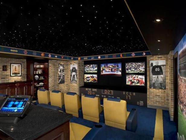 Notre Dame Man Cave Ideas : Notre dame themed home theater hgtvremodels i like