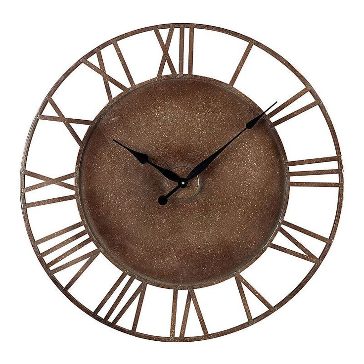 Sterling Outdoor Wall Clock, Brown