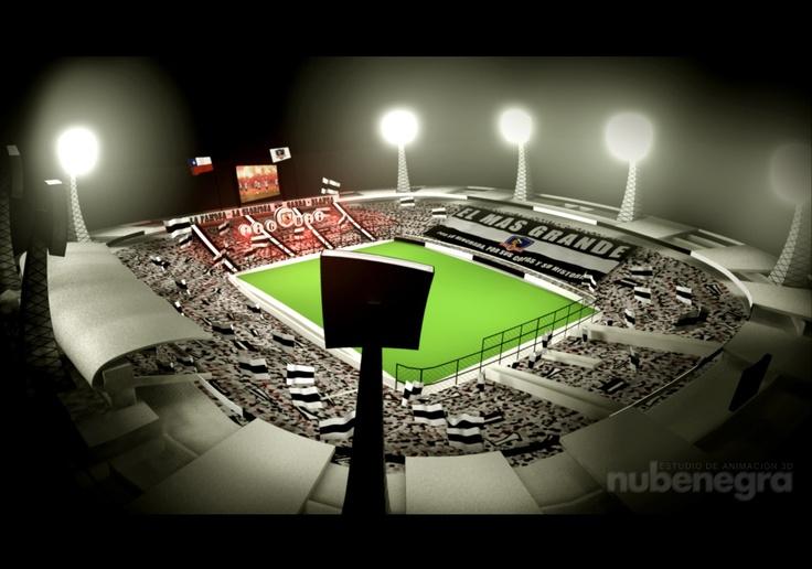 Estadio Monumental David Arellano. Colo-Colo.  #maya #MentalRay