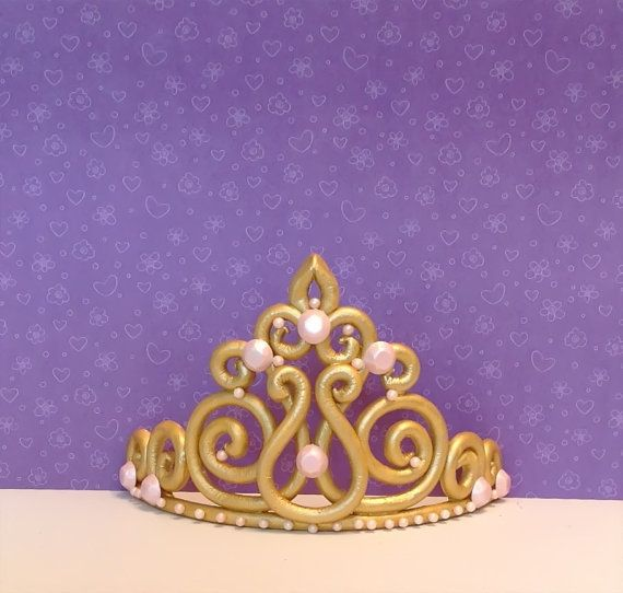 Princess crown tiara cake topper by LuluCupcakecom on Etsy