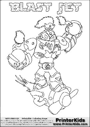 Coloring page with BLAST JET from the 2013 Skylanders game ...