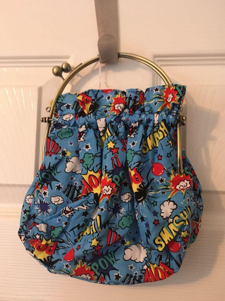A personal favourite from my Etsy shop https://www.etsy.com/uk/listing/586781683/handmade-framed-superhero-fabric-handbag