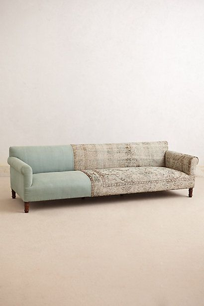 Knotted Linen Sofa, Anthropologie