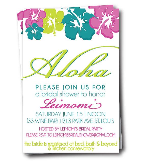 Best 25+ Hawaiian bridal showers ideas on Pinterest Luau table - free templates for bridal shower invitations