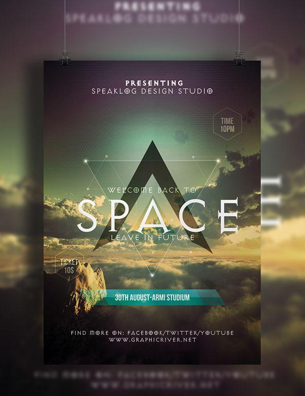 Space Futuristic Flyer Design on Behance