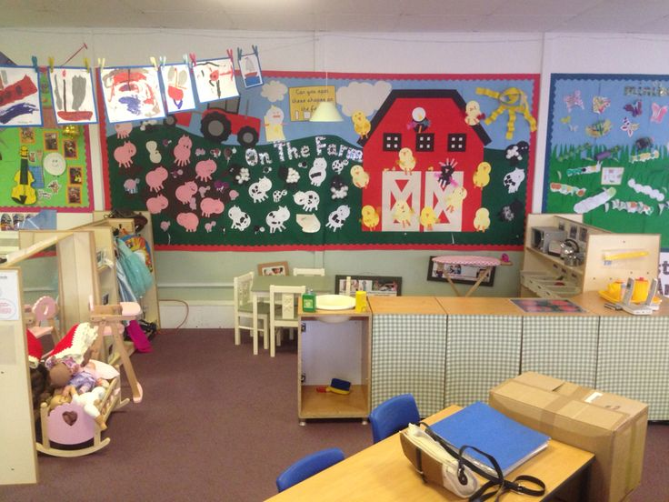 Classroom Ideas Early Years : On the farm shapes display early years