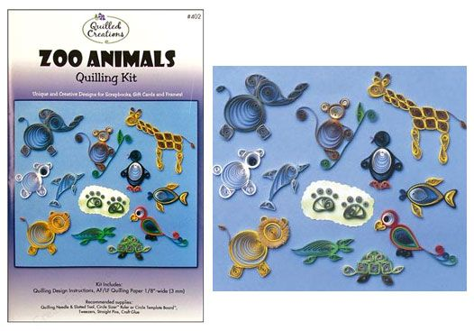 Quilling Kit : #402 Zoo Animals