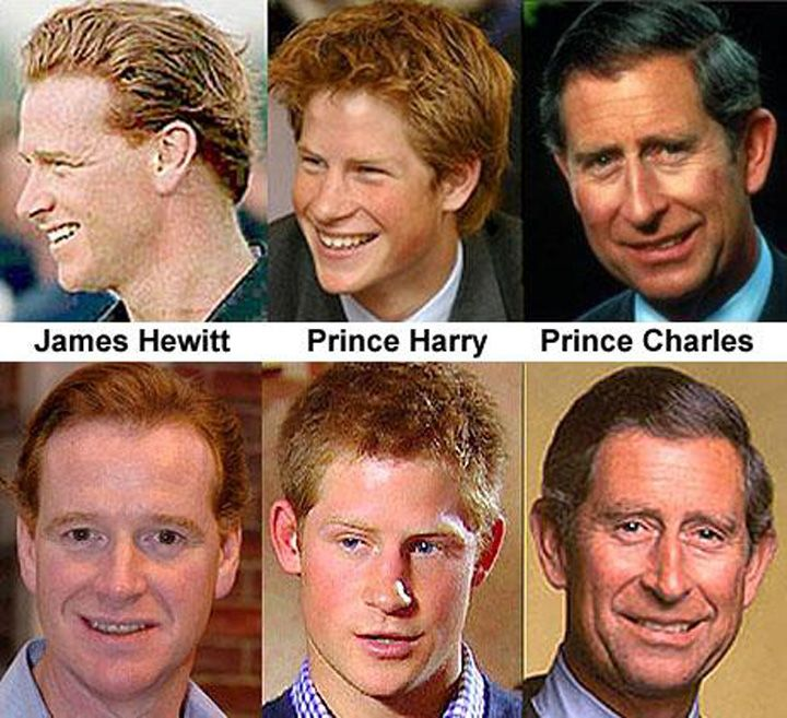 Prince Charles Not Harry's Real Father - more here:  http://asheepnomore.net/2013/11/17/prince-charles-not-harrys-real-father/