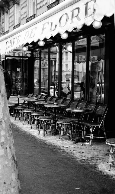 Café de Flore 172 Boulevard Saint-Germain 75006 Paris One of my favorite place to share and drink a real hot chocolate.