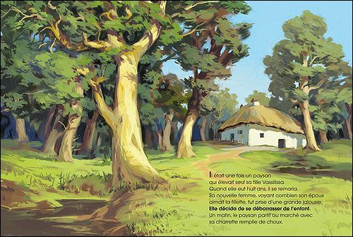 "Joel Cimarron illustration for ""Baba Yaga""."