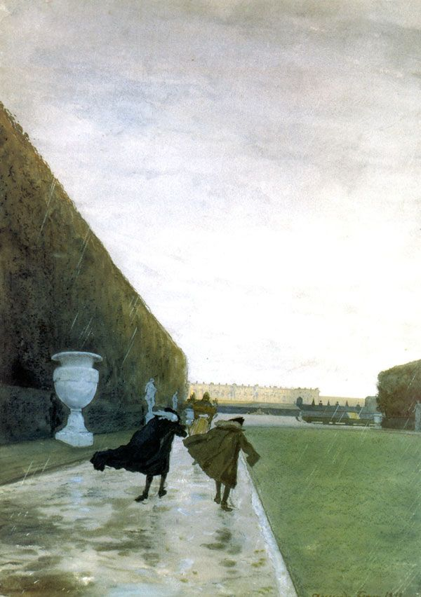 Alexandre Benois - The King Walked In Any Weather - 1898