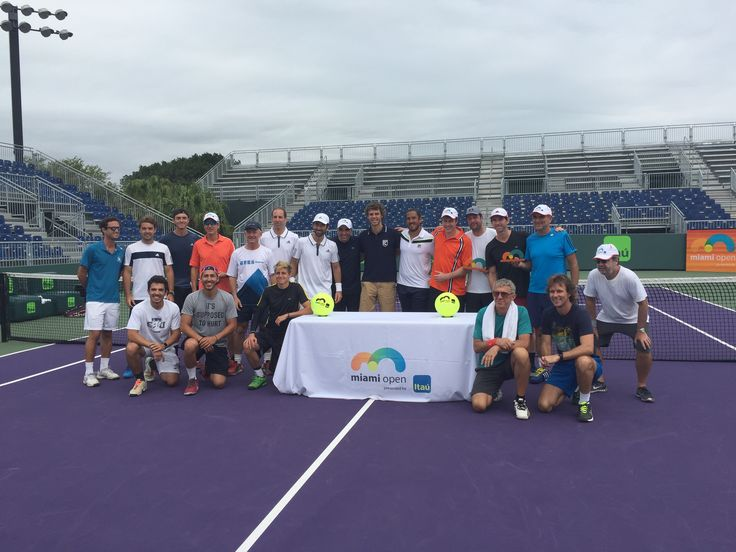We had a great time with Gustavo Kuerten, Guillermo Cañas & Leonardo Tavares at the @Itaú Pro Am Sunday! ‪@miamiopentennis