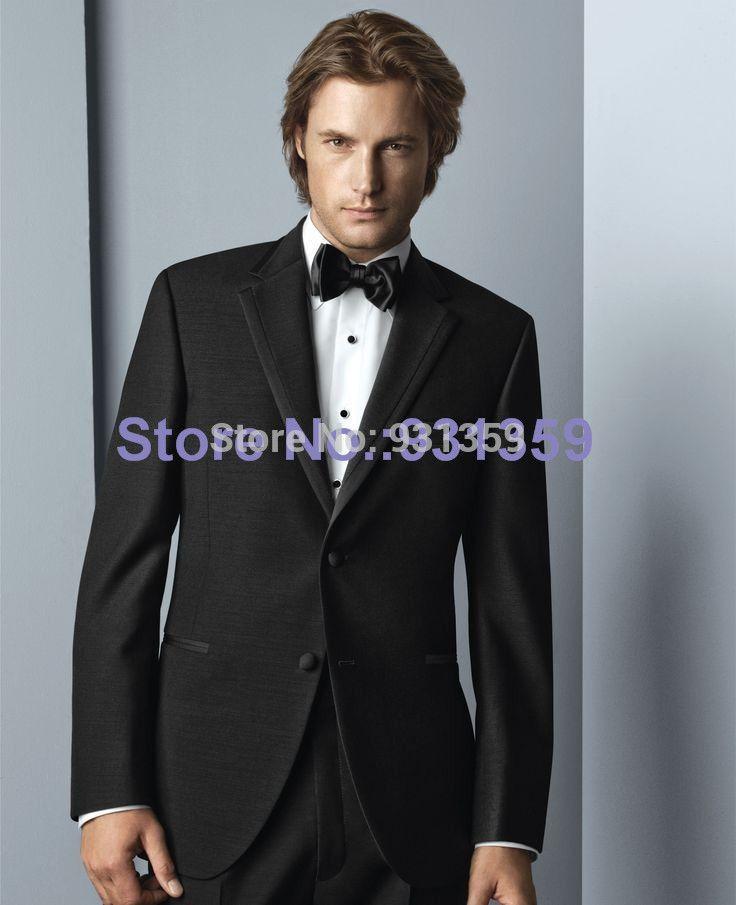 На заказ на заказ черный жениха свадьба Tuexdos мужские костюмы ( куртка + брюки + галстук + жилет ) ZB532 дешевые мужские костюмы