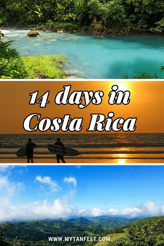 Sample 14 day Costa Rica itinerary: Playa Tamarindo, Monteverde, Bijagua and Rincon de la Vieja. Click through to read: https://mytanfeet.com/costa-rica-travel-tips/14-day-costa-rica-itinerary/