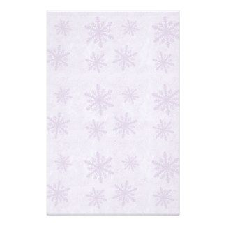 Snowflakes 1 - Purple Stationery Paper
